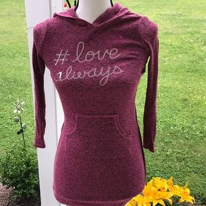 Small (7/8) Star Ride Girl's Pink Sweater Tunic